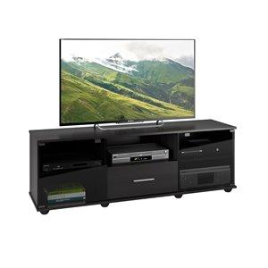 Meuble de télé Fernbrook, faux-fini de bois noir