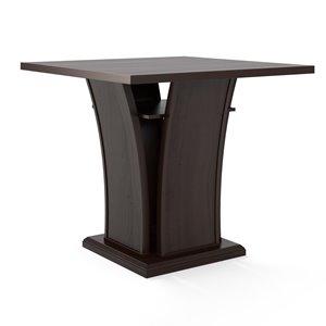 Table de salle à manger Bistro à hauteur de comptoir, brun
