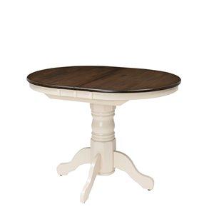 Table ovale extensible Dillon avec rallonge-papillon de 12