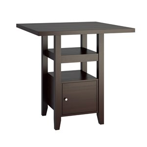 Bistro Counter Height Cappuccino Dining Table - 36