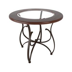 Table à hauteur de comptoir Jericho en verre et bois