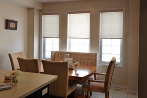 Motorized Privacy Roller Shade with Valance - 70