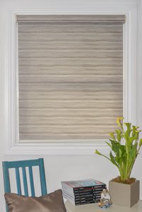 Motorized Textured Roller Shade with Valance - 42