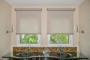 Chainless Woven Roller Shade with Valance - 35