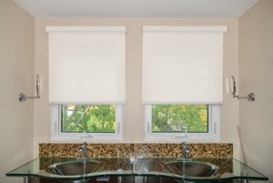 Motorized Woven Roller Shade with Valance - 66