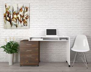 Ensemble de bureau à 2 pièces Essentials, truffe/blanc