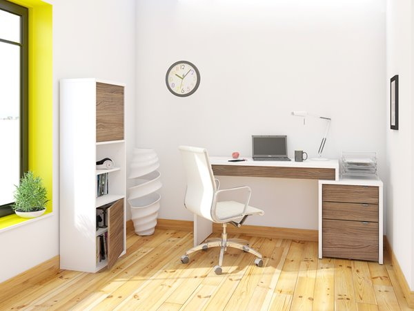 Bureau hjh office bureau easy flow i noyer blanc hjh office darty