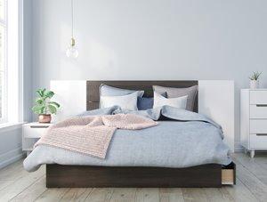 Pristine Queen Bedroom Set- 4 Pieces- Ebony