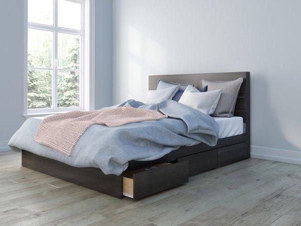 Nexera 2 Piece Ebony Queen Bedroom Set