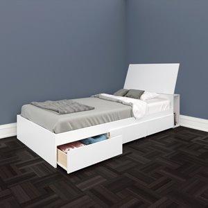 Ens. de chambre à coucher Blvd simple, 2 mcx, blanc
