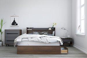 Cartel Queen Bedroom Set - 3 Pieces - Walnut