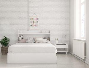 Aura Full Bedroom Set - 3 Pieces - White