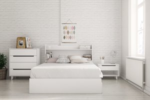 Aura Full  Bedroom Set - 4 Pieces - White