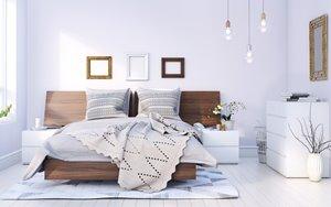 Denali Full Bedroom Set - 5 Pieces - Walnut/White