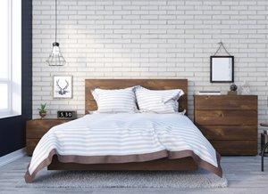 Karibou Full Bedroom Set - 4 Pieces - Truffle