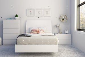 Paris Twin Bedroom Set - 4 Pieces - White