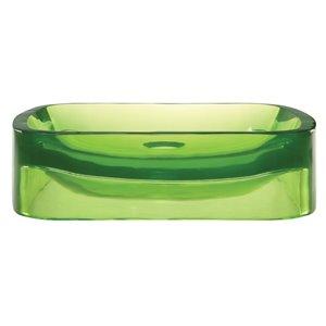 Vasque en résine Lacee, rectangulaire, absinthe