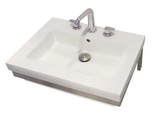 Coral Wall-Mount Sink - Rectangular - White