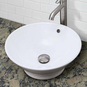 Vasque avec trop-plein Celena, rond, blanc