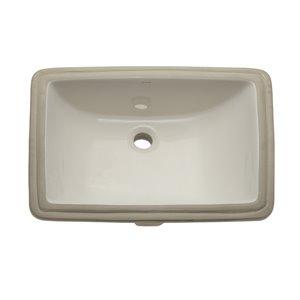 Callensia Undermount Sink with Overflow - Rectang. - Biscuit