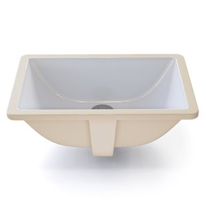 Callensia Undermount Sink with Overflow- Rectangular - White