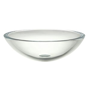 Anani Tempered Glass Vessel - Round - Transparent Crystal