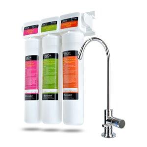 Système de filtration d'eau en trois étapes H2O+ Coral