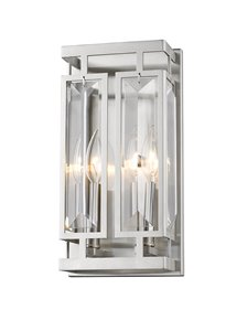 Mersesse Wall Sonce - 2-Light - Brushed Nickel