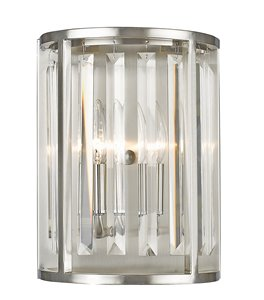 Monarch Wall Sonce - 2-Light - Brushed Nickel