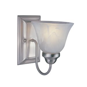 Lexington Wall Sonce - 1-Light - Brushed Nickel