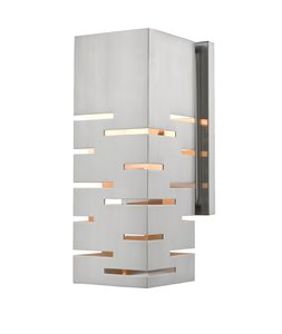 Loek Wall Sonce - 1-Light - Brushed Nickel