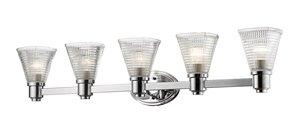 Intrepid Vanity Light - 5-Light - Chrome