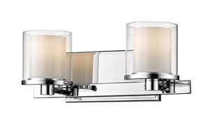Schema Vanity Light - 2-Light - Chrome