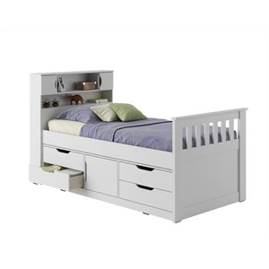 Twin Captain Bed - Snow White