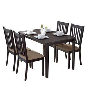 Ensemble de salle à manger, chaises en microfibre, 5mcx