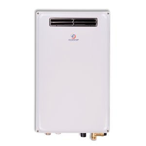 Outdoor Propane Gas Tankless Water Heater - White