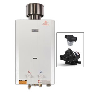 Tankless Water Heater with Eccoflo Pump - 75, 000 BTU