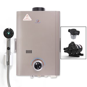 Tankless Water Heater with Eccoflo Pump - Chrome