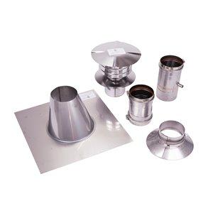 Ensemble de ventilation verticale pour chauffe-eau