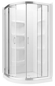 Round Shower Kit - White