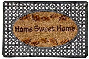 Home Sweet Home Door Mat - Rubber/Printed Coco - 20'' x 30''