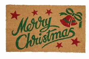 Christmas Bells Printed Coco Door Mat - 18'' x 30''