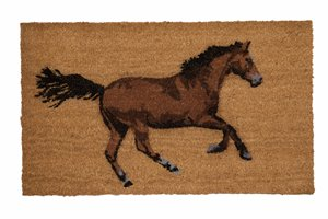 Galloping Horse Printed Coco Door Mat - 18'' x 30''