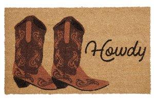 Howdy Printed Coco Door Mat - 18'' x 30''