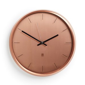 Horloge murale Meta, cuivre, 12.5