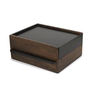 Coffret pour bijoux Stowit, noir/noyer