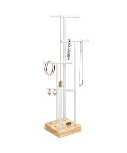Acro Jewelry Stand - White/Natural