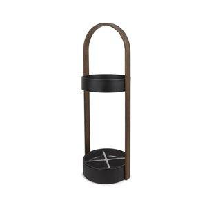 Porte-parapluie Hub, noir/noyer