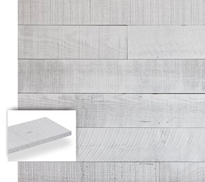 Planches décoratives Barnwood, littoral blanc