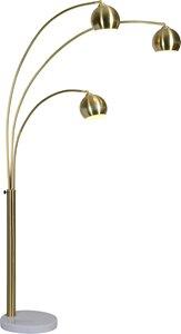 Lampe sur pied Dorset, laiton satiné, 83